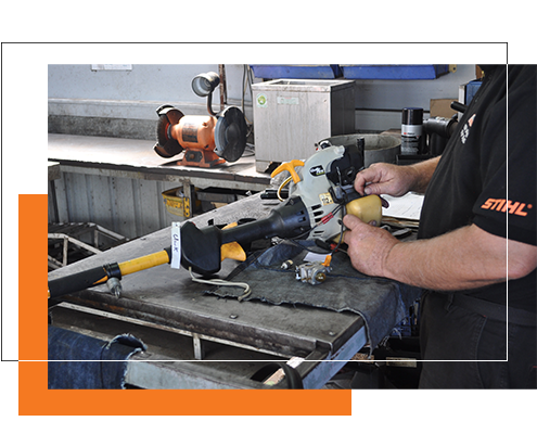 Stihl Shop Morayfield Mechanic in the service and repair workshop